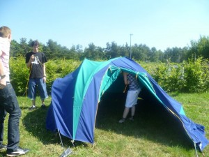 Montage de la tente